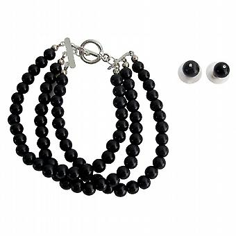 Attractive Bracelet Black Pearls Party Wear Mother Of Bride Jewelery