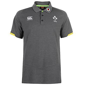 Camisa de Polo de algodón para hombre IRFU Canterbury