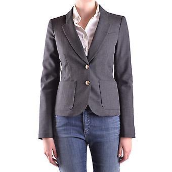Armani Jeans Ezbc039001 Dames's Grey Polyester Blazer