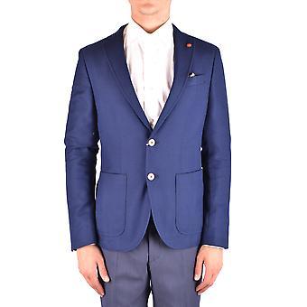 Manuel Ritz Ezbc128031 Men's Blue Cotton Blazer