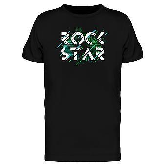 緑のロックスター サウンド ウェーブ t シャツ メンズ-シャッターによる画像