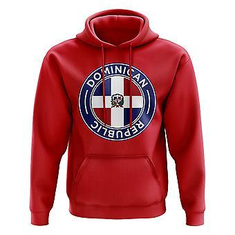 République dominicaine de Football Badge Hoodie (rouge)