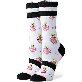 Chaussettes d'équipage d'ananas de Polka de Stance en rose