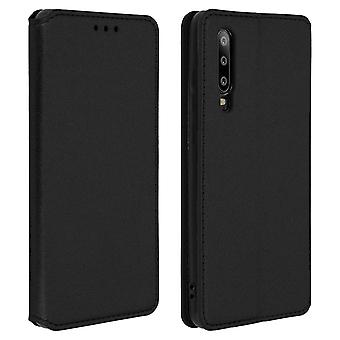 Slim Case, Classic Edition stand case with card slot for Huawei P30 - Black
