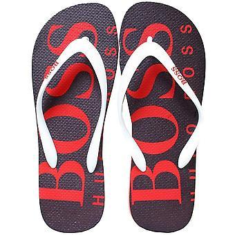 Boss onda Flip Flops, nero/rosso