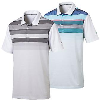 Puma Golf Mens Go Time Road Map DryCell Moisture-Wicking Polo Shirt