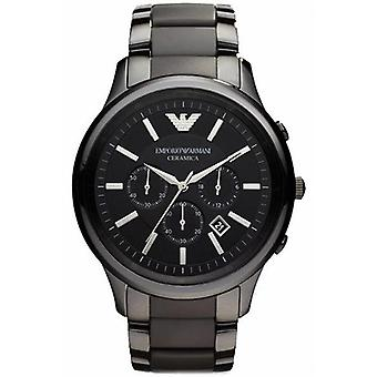 Emporio Armani Ar1451 Men's Black Ceramica Chronograph Bracelet Watch