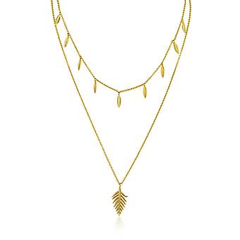 Ania Haie Gold Plated Sterling Silver 'Tropic' Double Necklace