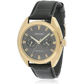 Citizen Eco-Drive Paradex in pelle Mens Watch BU4013 - 07h