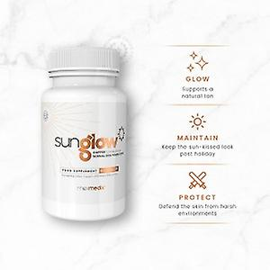 Sunglow - Natural Tanning Tablets With Lutein, Copper and Grape Seed Extract - Achieve The Perfect Natural Tan - Natural Tanning Pills - 60 Tablets