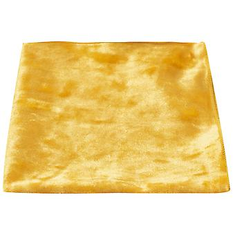 Luxury Gold Crushed Velvet Pocket Square, Handkerchief