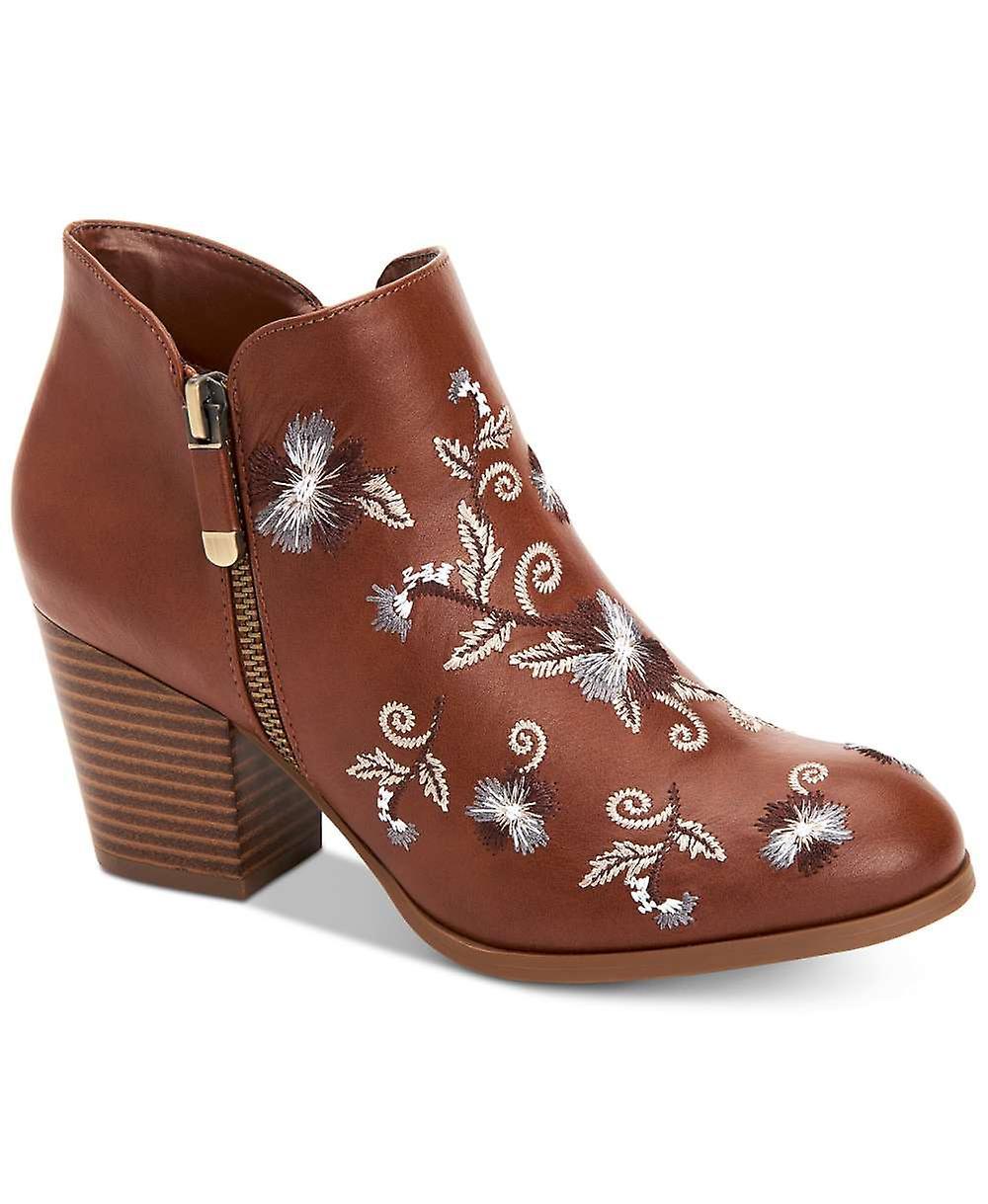 Style & Co. Kobiety MASRINAA Skórzane migdałowe buty do kostki GqOYc