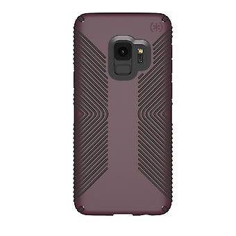 Speck Presidio Grip Case for Samsung Galaxy S9 - Fig Purple/Ochre Black