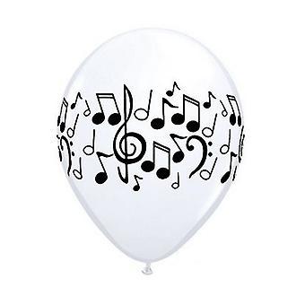 Qualatex 11 polegadas LaTeX música nota balões