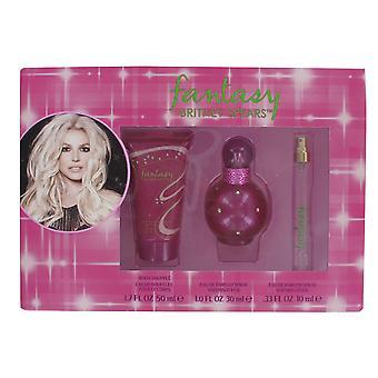 Britney Spears Fantasy 30ml Eau de Parfum, 100ml cuerpo soufflé y 10 ml Roller Set de regalo para las mujeres