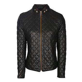 Valletri II Quilted Leather Jacket in Black