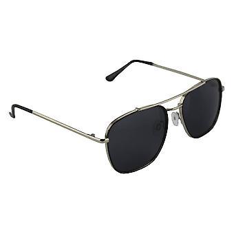 Sunglasses Aviator Polarizing Glass silver black FREE BrillenkokerS302_5
