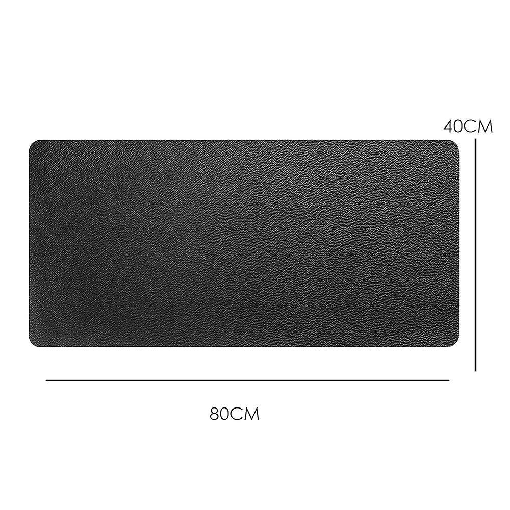 DIGIFLEX Large Mouse Pad Leather Effect Waterproof 80cm x 40cm - Black Colour
