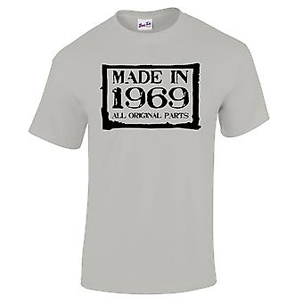 Men's 50th Birthday T-Shirt Made In 1969 Novelty Gifts For Him