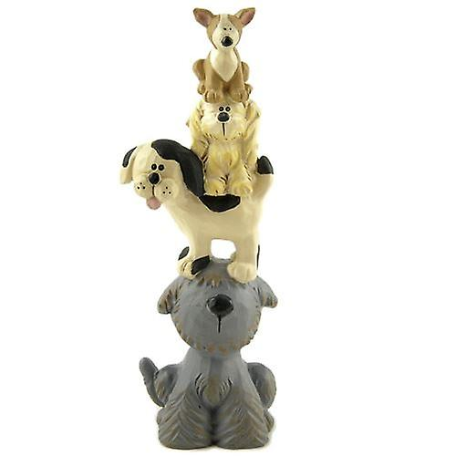 Stack of Cute Dogs Resin Decoration