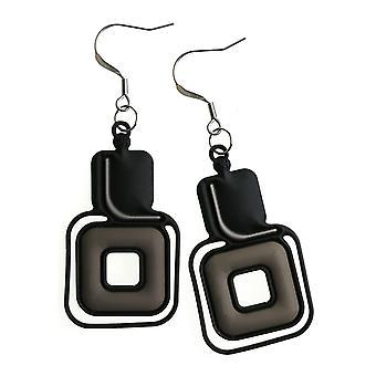 Batucada Skin Jewellery Black Pythagore Earrings 12-01-03-01-Black