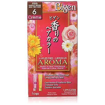 Hoyu Bigen Fragrance #6 Darkest Brown Milky Type 06 Hair Color