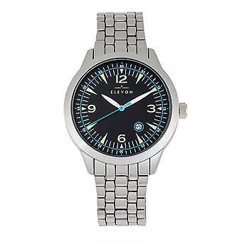 Elevon Atlantic Bracelet Watch w/Date - Silver/Black