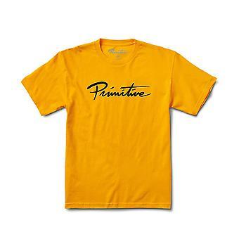 Primitive Apparel Nuevo Script T-Shirt Gold