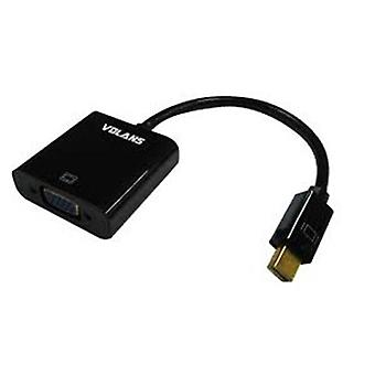 Volans Mini DisplayPort To VGA Male To Female Converter