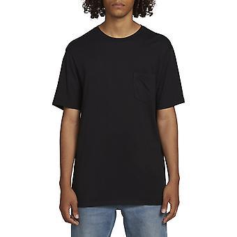 Volcom Solid Pocket Short Sleeve T-Shirt in Black