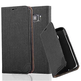Estojo cadorabo para tampa da caixa do Samsung Galaxy S7 EDGE - estojo telefônico em bast look com compartimento de cartão e função de suporte - Caso Capa Capa Caso de proteção Livro Dobrável Estilo