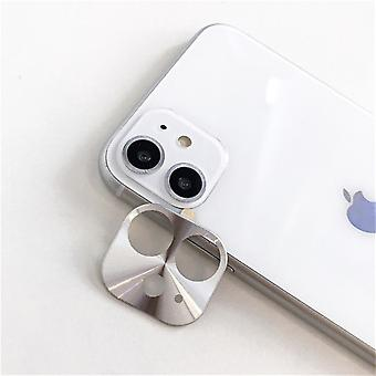 iPhone 11 Case Silver Camera Lens Protector - Metal