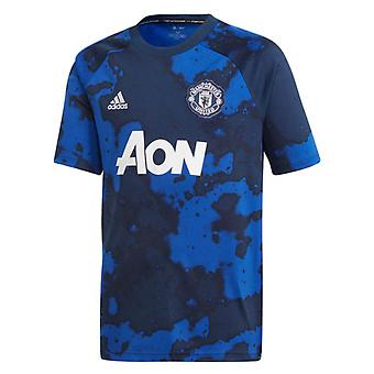 2019-2020 Man Utd Adidas Pre-Match Training Shirt (Mystery Ink) - Kinder