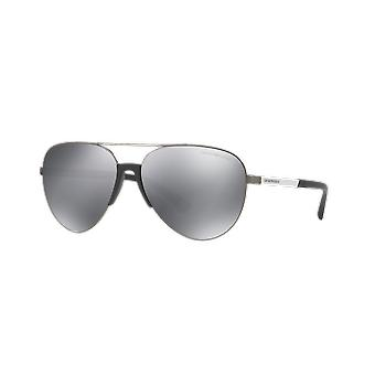 Emporio Armani EA2059 3010/6G Matte Gunmetal/Light Grey-Silver Mirror Sunglasses
