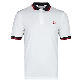 Fred Perry Contrast Trim Snow White Polo Shirt