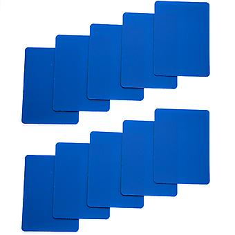 Set di 10 carte taglia formato Poker in plastica blu