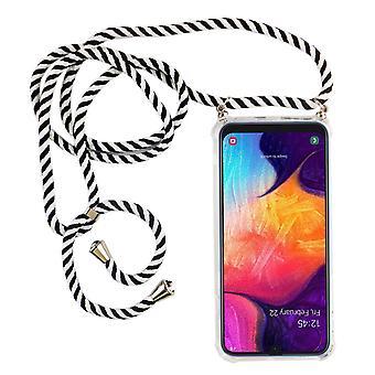 Lanț de telefon pentru Samsung Galaxy A50 - Smartphone Colier caz cu panglică - Cablu cu caz pentru agățat în negru
