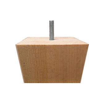 Kwadraty drewniane meble nogi 6 cm (M8)