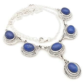 Lapis Lazuli Necklace 925 Silver Sterling Silver Necklace Necklace Blue (MCO 08-06)