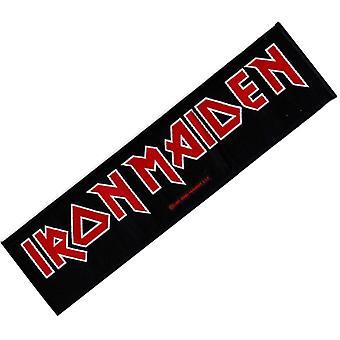 Iron Maiden logotyp Superstrip Sew-On tyg Patch 190 X 50 Mm