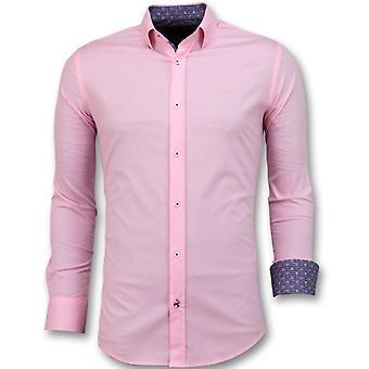 Men's Shirts Italian-blank Blouse-3032-Pink