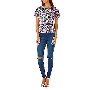Sugarhill Boutique Women's Nicole Spring Time Floral Tee Top