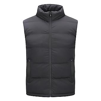 Allthemen Men 's Large Size Casual Removable-hood Colete colete sólido
