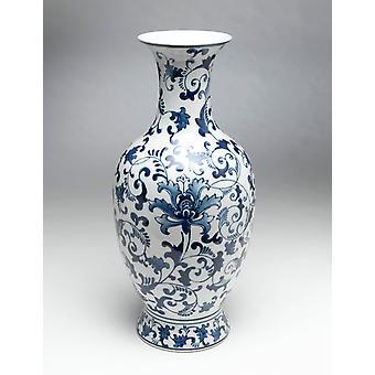 AA, importowanie 59701 niebieski i biały wazon