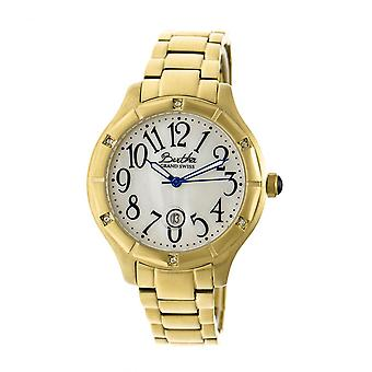 Bertha Jaclyn MOP Ladies Swiss Bracelet Watch - Gold/White
