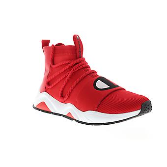 Champion Rally Hype Mid  Mens Red Canvas Casual High Top Sneakers Shoes