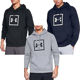 Under Armour UA Mens Rival Fleece Logo Pullover Hoody Jumper Hoodie Top