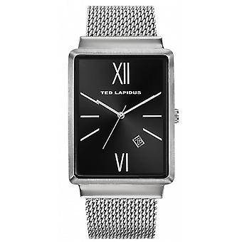 Ted Lapidus 5132204 - watch date Bracelet Milanese dial black man