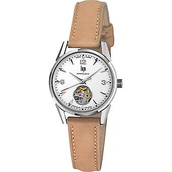 Watch LIP Watches 671604 - HIMALAYA 29 MM COEUR BATTANT SAPHIR Leather Mixed Beige