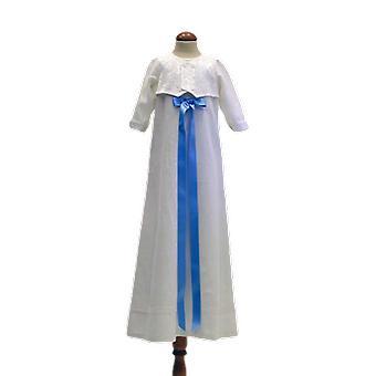 Dopklänning Grace Of Sweden, Med Brokad-väst Och Ljus-blå Rosett